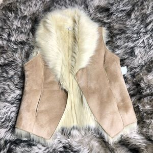 Fever tan faux fur vest